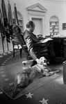 President Ford with Golden Retriever, Liberty